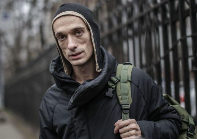 Artista opositor russo Pyotr Pavlensky, foto de arquivo