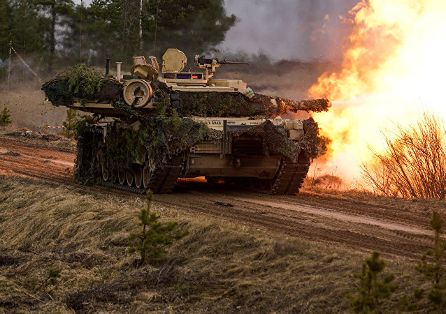 Tanques M1 Abrams. (fodo do arquivo)