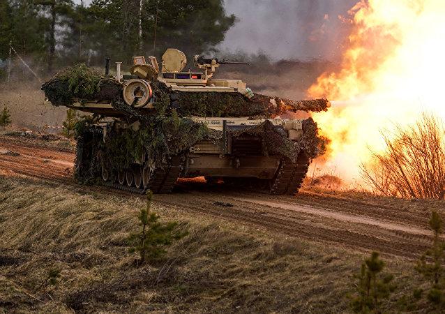 Tanques M1 Abrams. (fodo do arquivo)