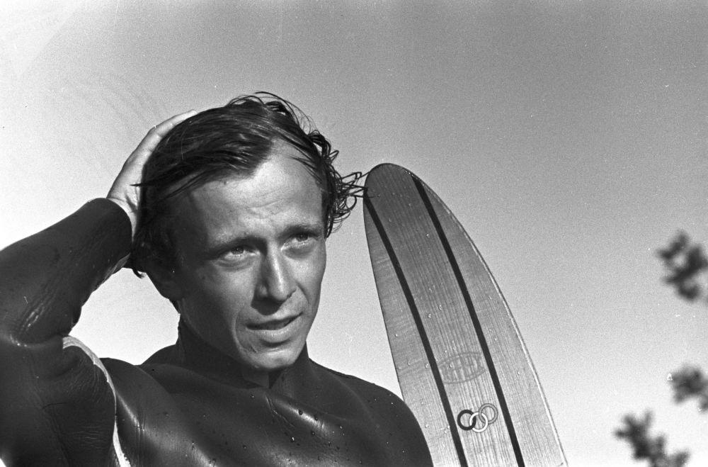 Campeonato de esqui aquático, 1970. Grigory Gusev – campeão da URSS