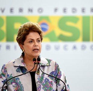 Dilma Rousseff, presidente do Brasil, discursa em Brasília