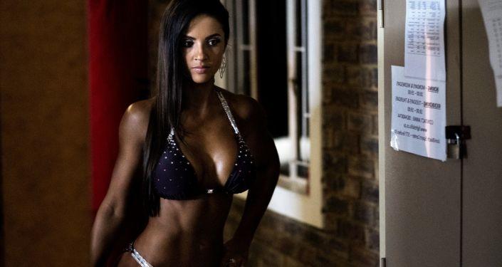 Participante do concurso Miss SA Xtreme 2017 na África do Sul