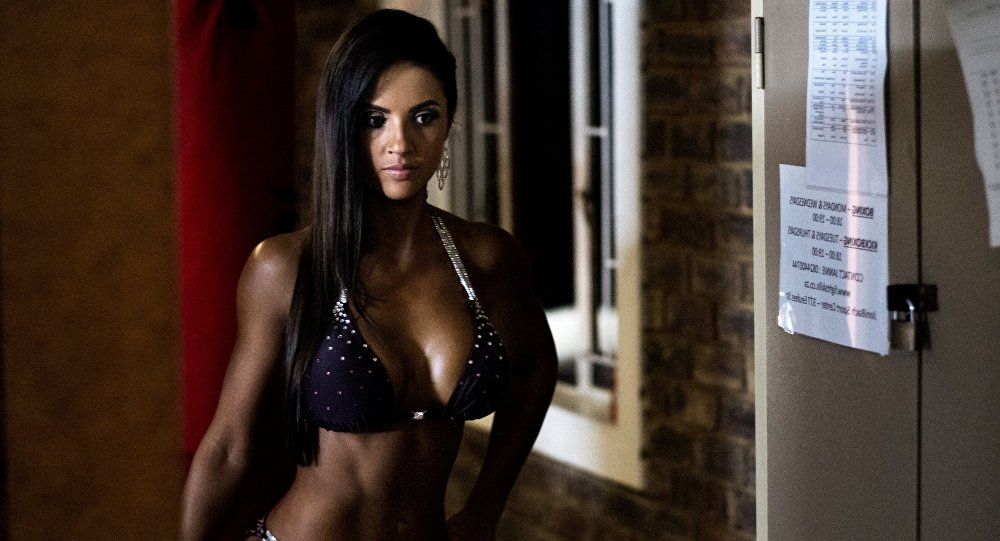 Participante do concurso Miss SA Xtreme 2017 na África do Sul