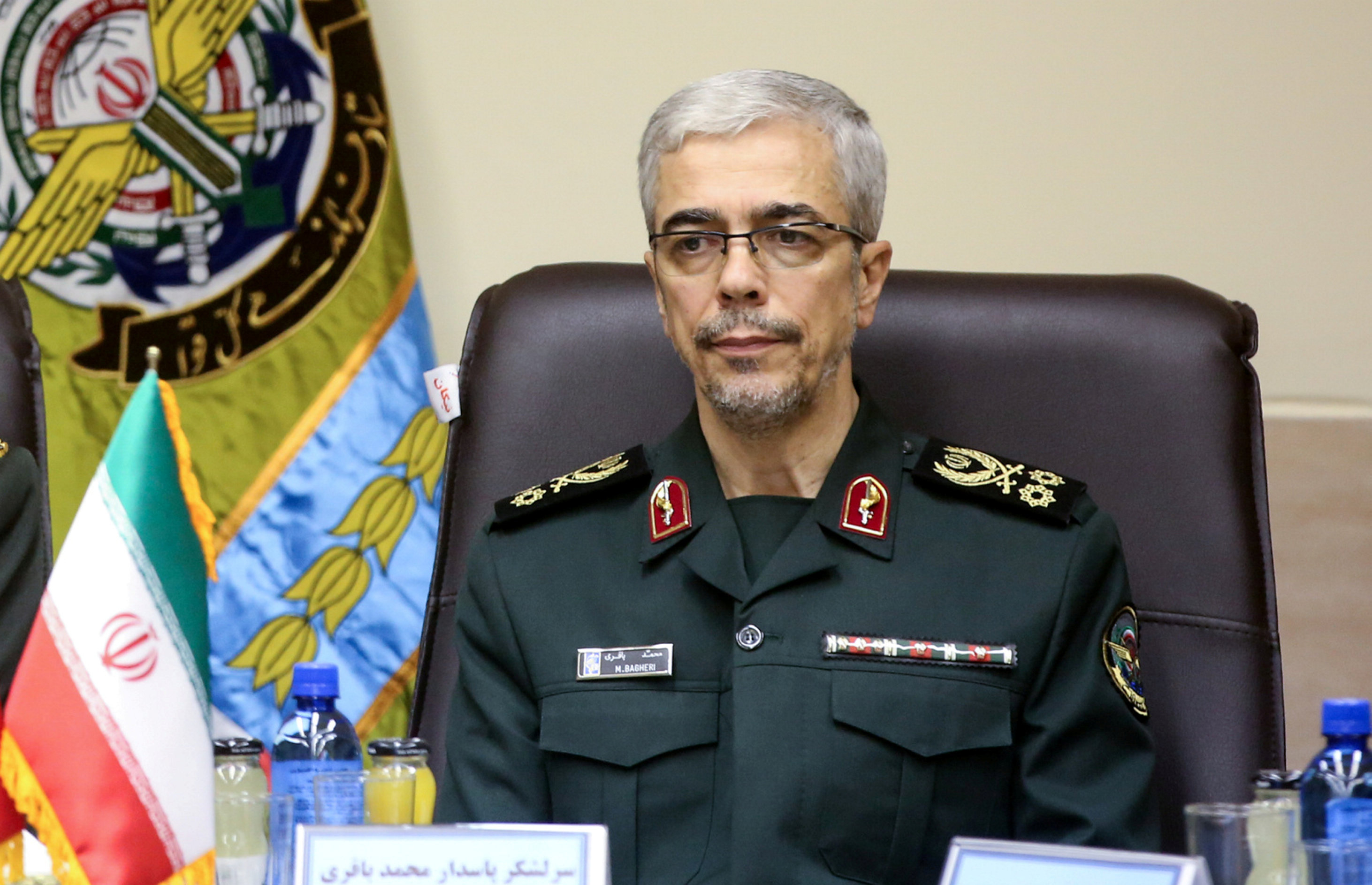Chefe do Estado-Maior do Irã, major-general Mohammad Baqeri