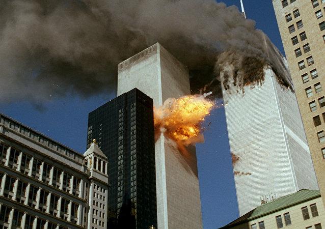 Momento do ataque ao World Trade Center em 11 de setembro de 2001, Nova York