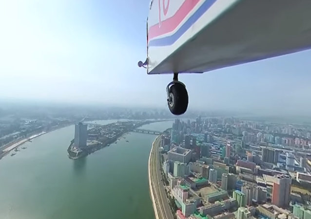 Primeiro vídeo aéreo de Pyongyang em 360°