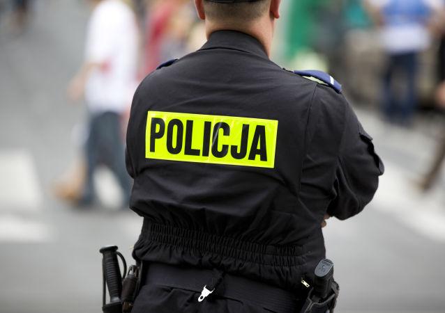 Policial polonês, (foto do arquivo)