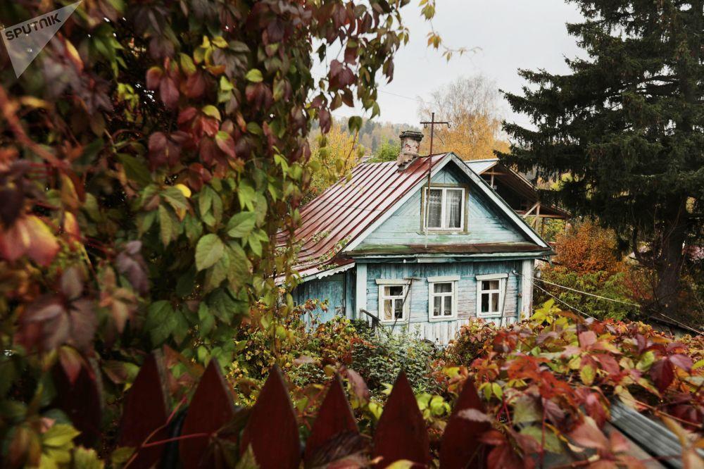 Uma casa na região russa de Ivanovo