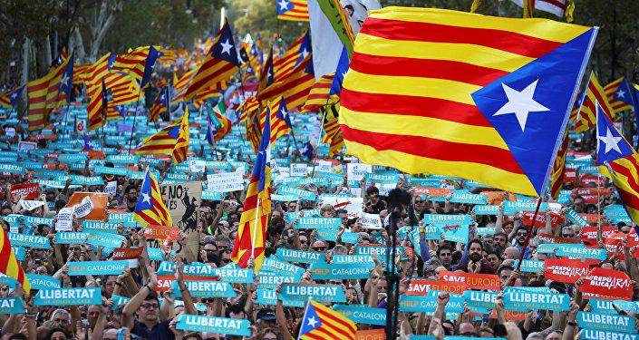 Marcha pela independência da Catalunha (foto de arquivo)
