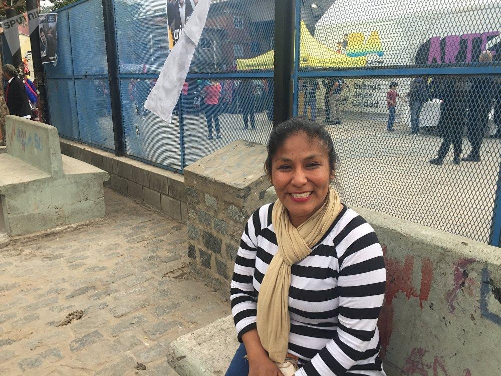 Mirella Churqui, uma das delegadas da Villa 31
