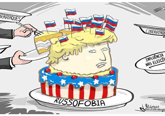 Norte-americanos, em qualquer situação, joguem a Rússia no meio
