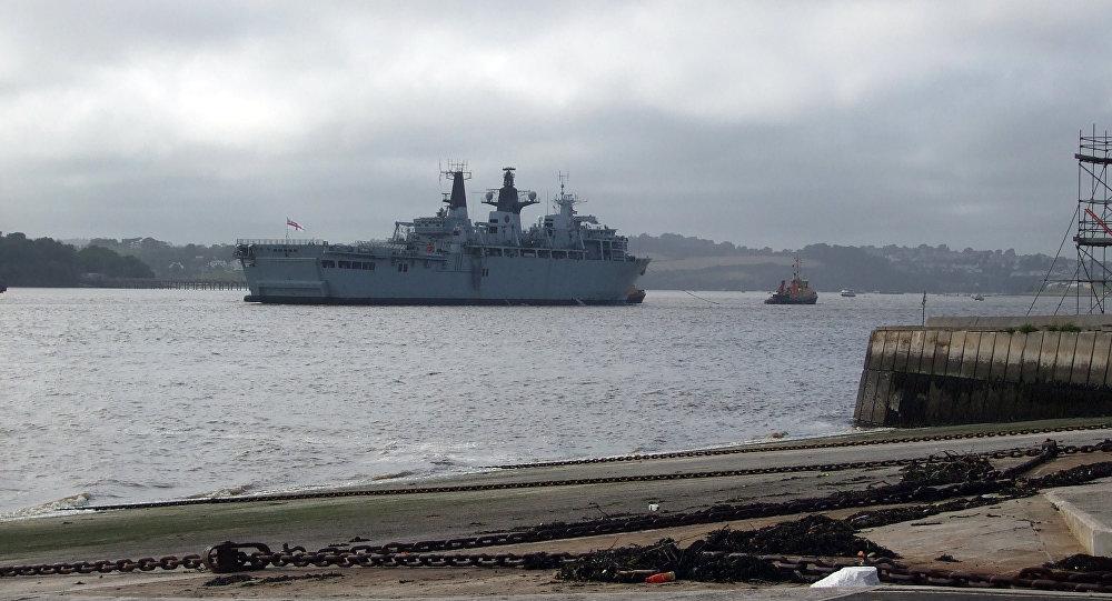 Navio anfíbio da Marinha da Grã-Bretanha HMS Albion