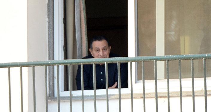 Hosni Mubarak no Hospital Militar do Cairo em 4 de maio de 2015
