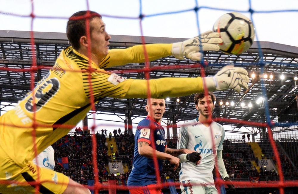 Jogo entre as equipes russas de futebol TSKA e Zenit