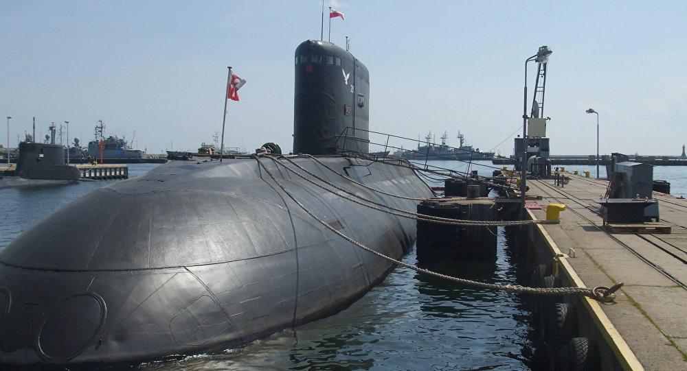 O submarino Orzel da Marinha da Polônia