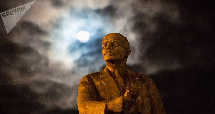Monumento de Lenin, foto de arquivo