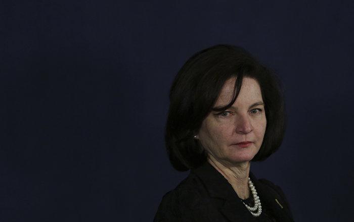 A procuradora-geral do Brasil, Raquel Dodge, durante a cerimônia da própria posse, em 18 de setembro de 2017