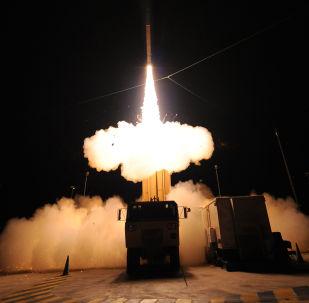 Teste de mísseis THAAD (foto de arquivo)