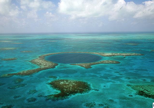 Grande Buraco Azul no Belize