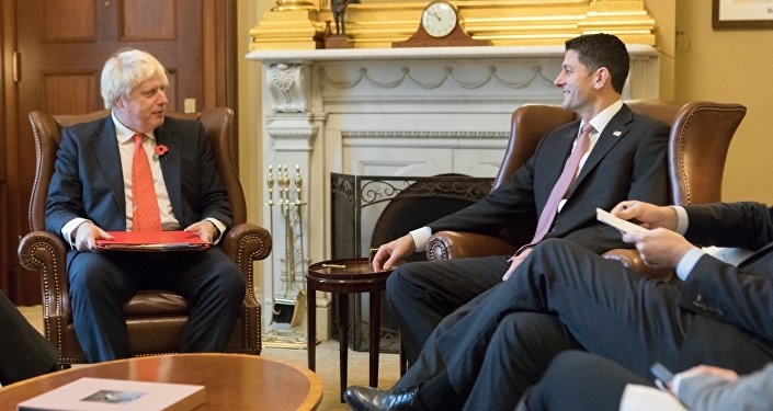 Boris Johnson se encontra com Paul Ryan em Washington