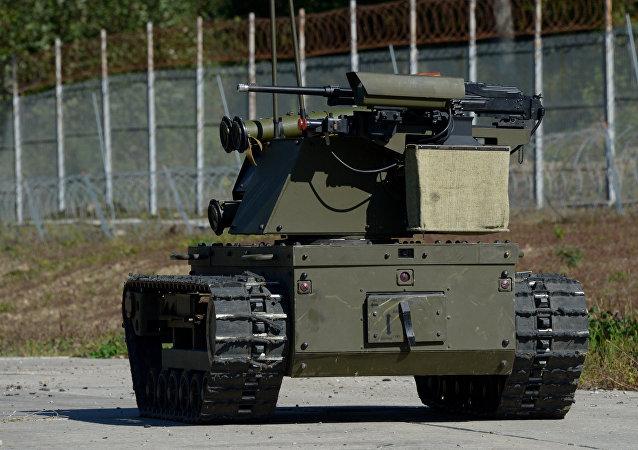 Sistema robótico russo Plataforma-M