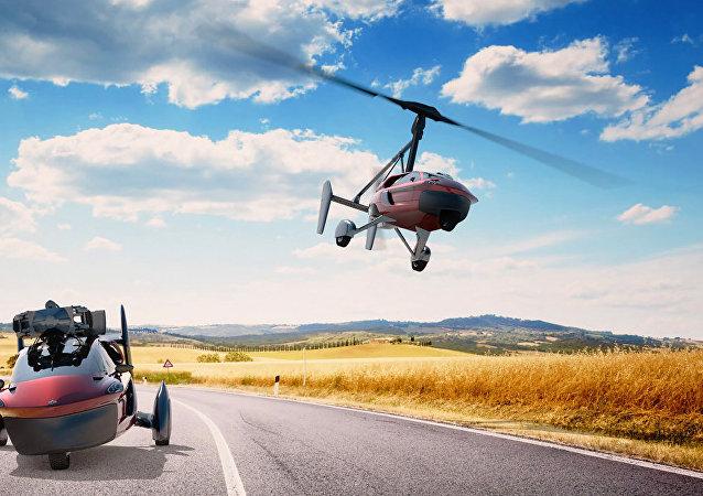 Primeiro carro voador do mundo (imagem ilustrativa)