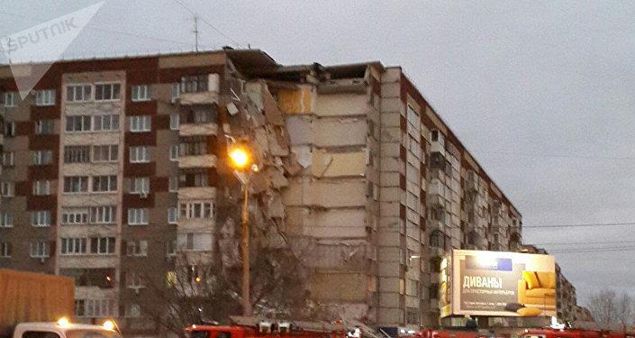 Prédio desaba na cidade russa de Izhevsk
