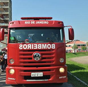 Caminhão do Corpo de Bombeiros Militar do Estado do Rio de Janeiro (CBMERJ), foto de arquivo