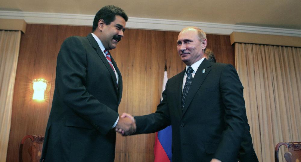 Presidentes de Venezuela e Rússia: Nicolás Maduro e Vladimir Putin