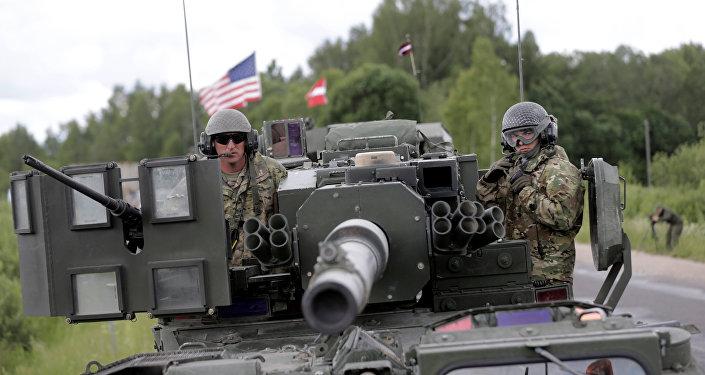 As forças da OTAN na Letônia
