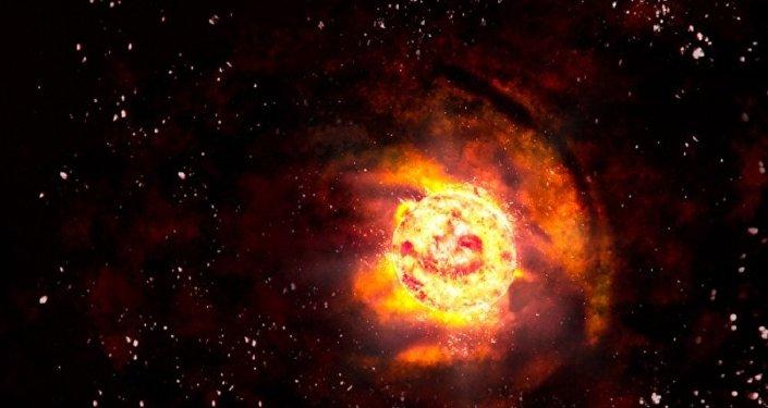 Estrela ardente (imagem artística)