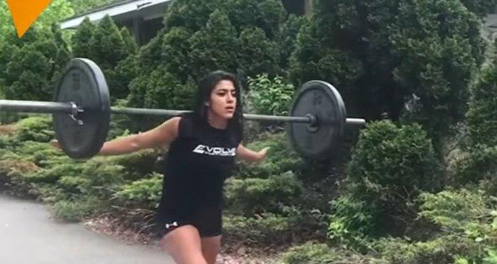 Mulher atleta do Paquistão Heba Ali