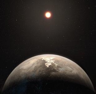 Planeta Ross 128 b (apresentação artística)