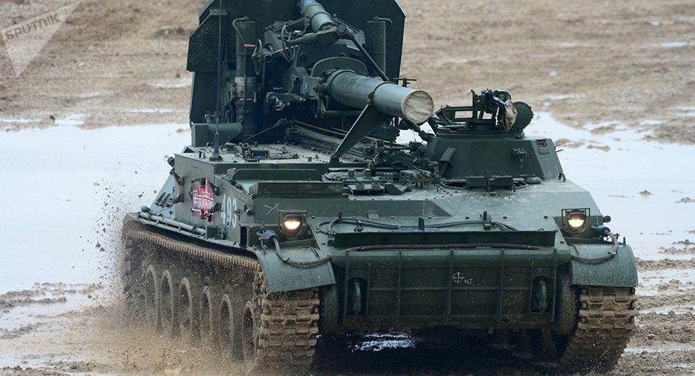 Morteiro autopropulsado russo 2S4 Tyulpan