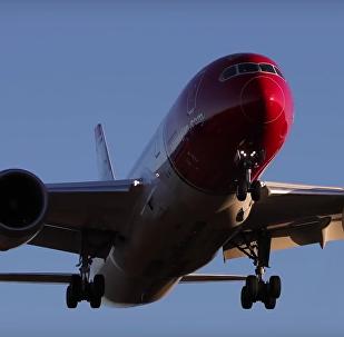 Aviões em câmera lenta