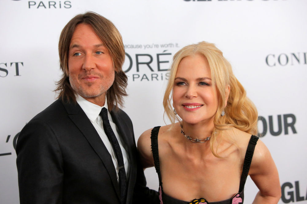 Cantor australiano Keith Urban com famosa atriz Nicole Kidman