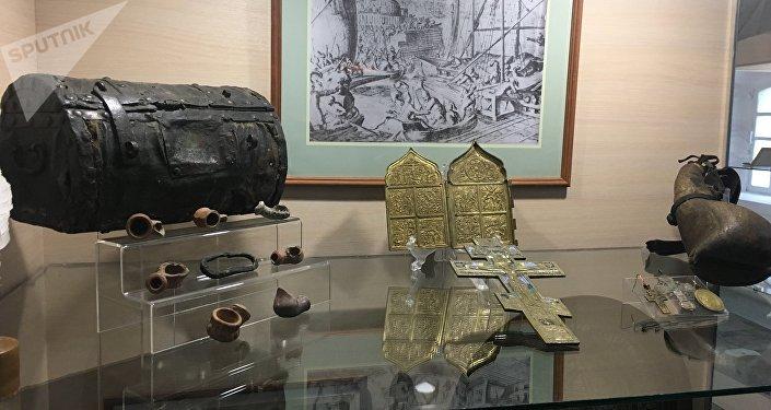 Troféus que o exército dos cossacos do Don trouxe após vitórias em combates com inimigos
