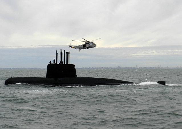 Submarino argentino ARA San Juan (foto de arquivo)