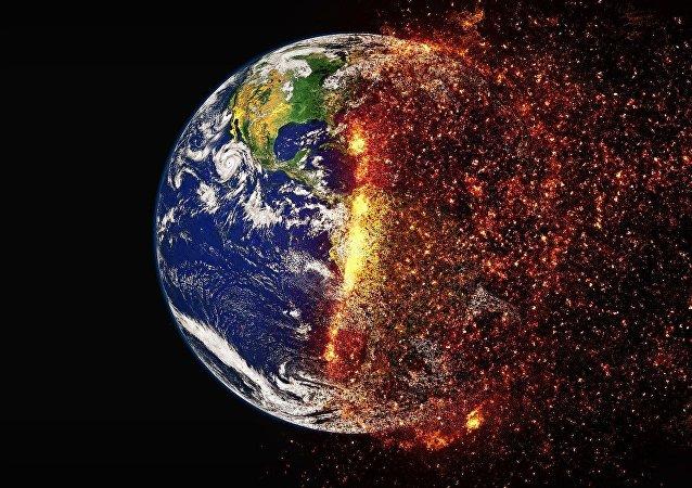 A Terra atingida por uma catástrofe (apresentação artística)
