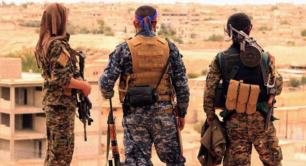 Militantes das Forças Democráticas da Síria