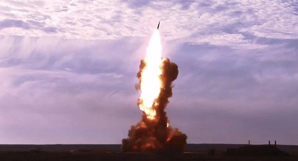 Teste do míssil interceptor russo (imagem referencial)