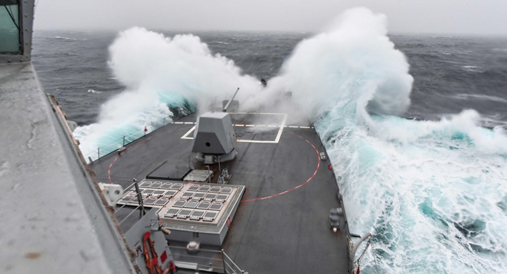 O destróier USS James Williams (DDG-95) da Marinha dos EUA