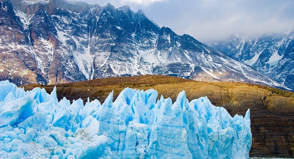 Geleira Grey no Parque Nacional Torres del Paine, Chile