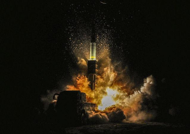 Lançamento do míssil sul-coreano Hyunmoo II