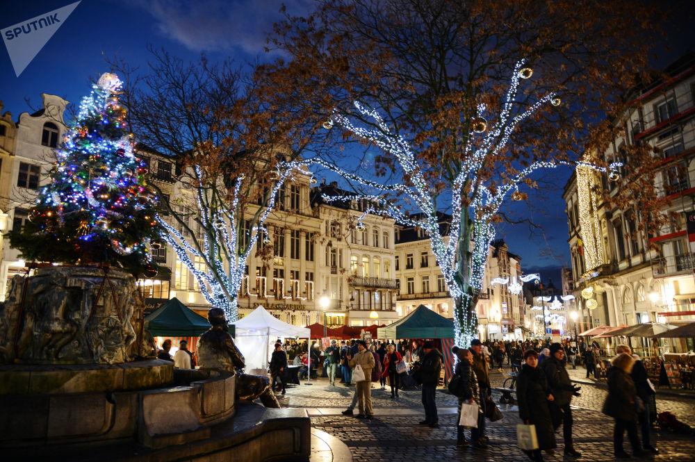 Feira natalina em Bruxelas, Bélgica
