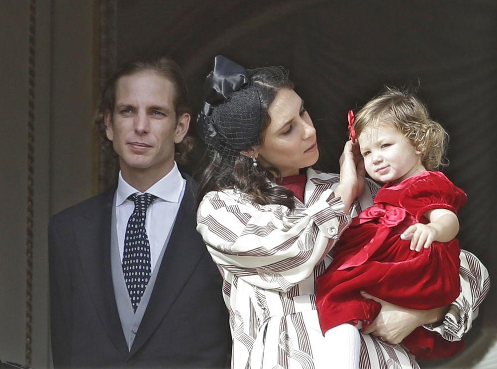 Príncipe do Mônaco Andrea Casiraghi com sua esposa Tatiana Santo Domingo, designer