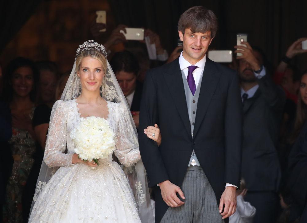 Príncipe Ernst August de Hanôver com sua esposa Ekaterina Malysheva, designer de moda