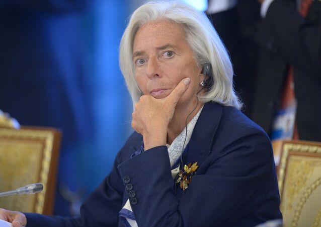Christine Lagarde na segunda reunião de trabalho da cimeira do G20