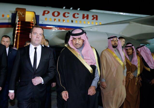 Medvedev na Arábia Saudita