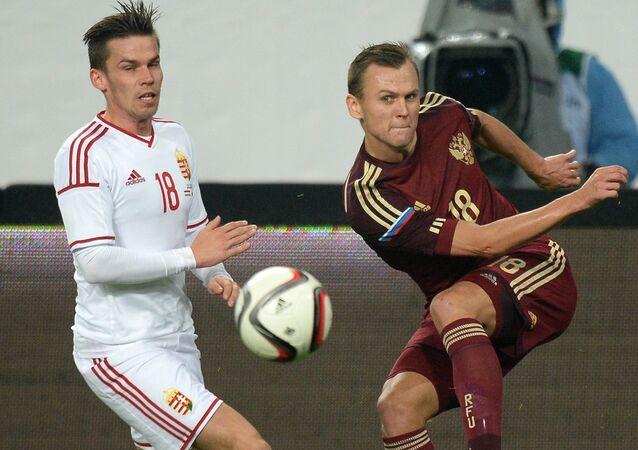 Futebol. Jogo amistoso. Hungria - Rússia